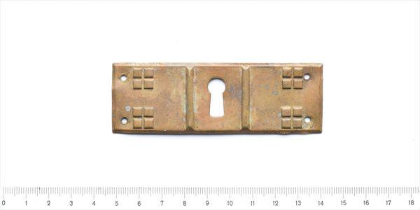 Schlüsselbeschlag Schlüsselblende Art Deco Messing Möbelbeschlag 27