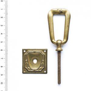 Möbelgriff antik Messing Möbelbeschlag Griff 16