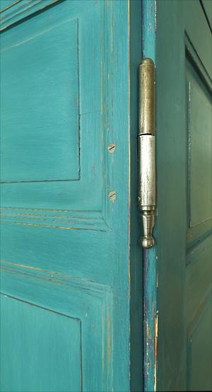 Fitschenband Tür links 12mm Dorn 287 Scharnier alt antik