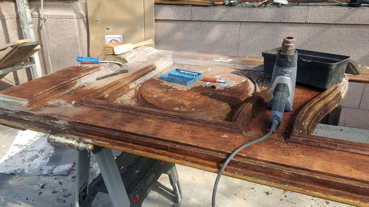Holz Eiche Abbeizen , lackiert , gewachst oder geölt