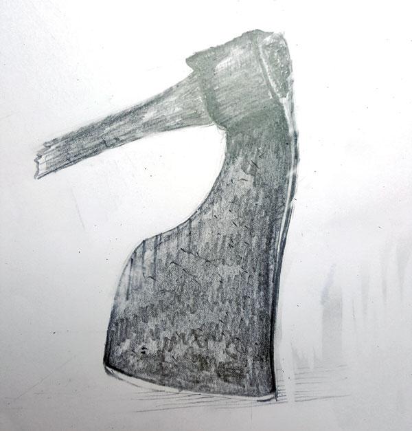 Kohlenstoffstahl-Zimmermannsbeil-Steinar