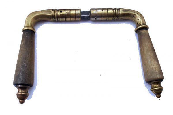 Alte Drückergarnitur Messing - Holz - Nr.163 -Vintage - Upcycling