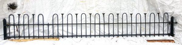 Eisenzaun alt Zaunfeld Rundstab Garten 233 x 35cm Nr.235