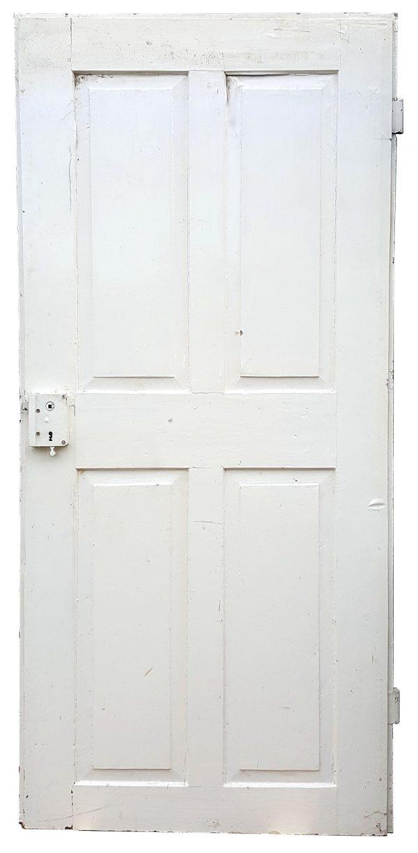 Antike Holztür in weiss für Upcycling Vintage Shabby Look alte Tür