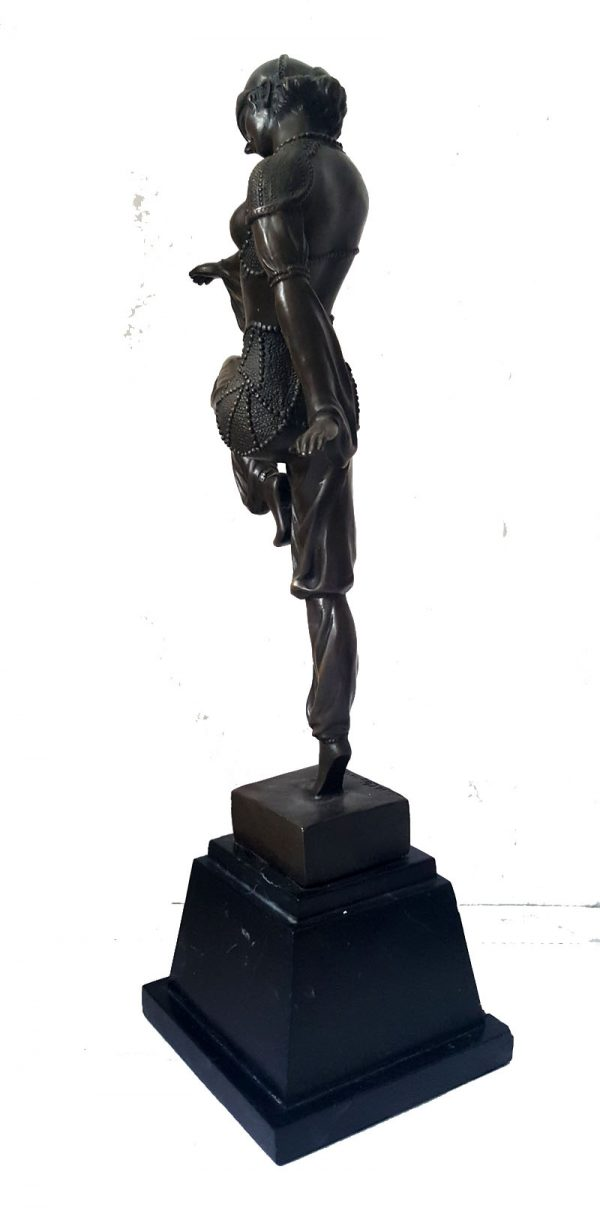 Bronze Figur D.H. Chiparus Art Deco Bronze Statue Tänzerin 49cm 6,3kg