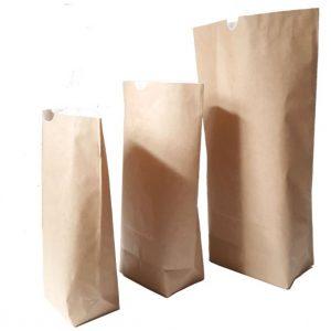 Bodenbeutel Papier 2-lagig Papiertüte Lebensmittel Pulver