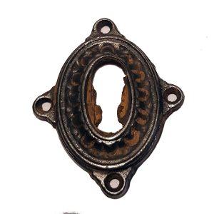 Schlüsselschild Eisen Beschlag antik alt Historismus