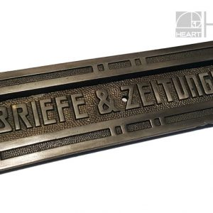 Briefschlitz Briefklappe antik Art Deco Jugendstil Eisen alt