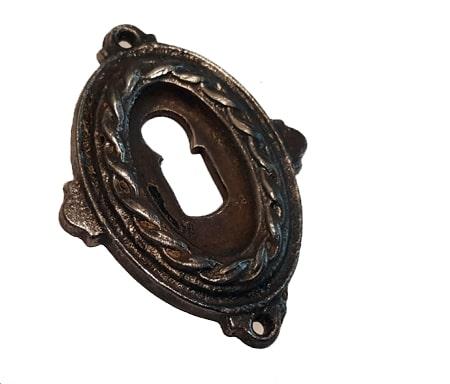 Schlüsselrosette antik alt Eisen Schlüsselschild Schlossblende