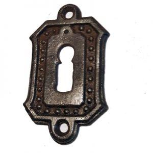Schlüsselrosette Eisen Schlossblende antik alt Schlüsselschild