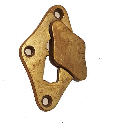 Schlüsselschild Bauhaus Messing Schlossblende Vintage