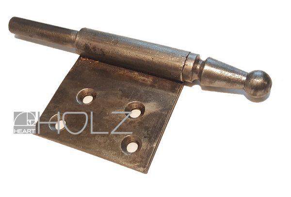 Fitschenband alt mit Kugelkopf Tür links 12mm Dorn Zierkopf antik