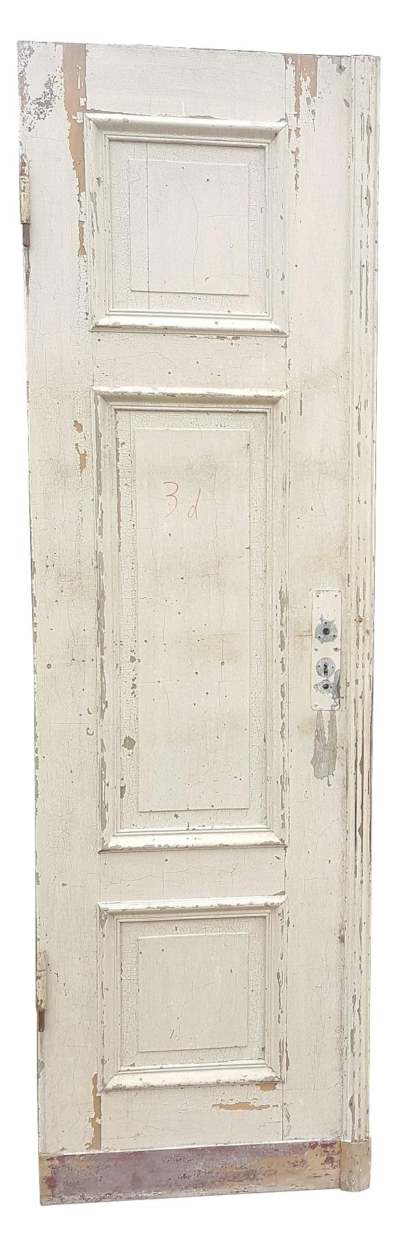 Tür alt Flügeltür weiß links Shabby Vintage Krakele