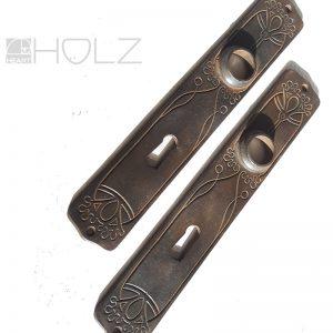 Türblenden antik alt Jugendstil Art Nouveau Guss Eisen Türblenden