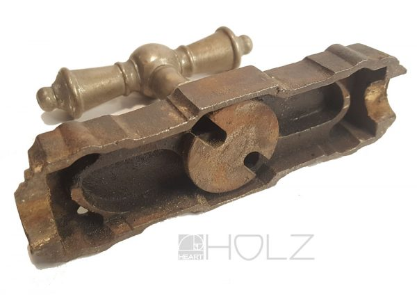 Fensterolive antik Basküle Getriebe Fenstergriff Eisenguss alt Bascule