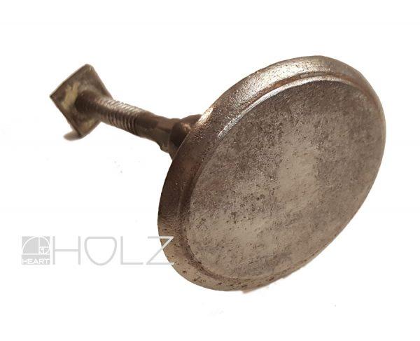 Türknauf geschmiedet alt antik Türgriff oval Eisen 70mm Ziehgriff Stossgriff