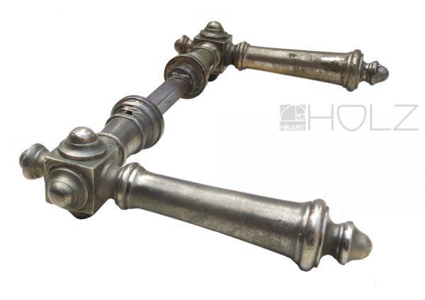 Drückerpaar antik silber Messing vernickelt Türdrücker alt Türklinken