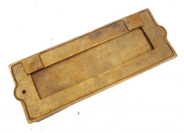Briefschlitz antik Briefklappe Messing massiv schwer