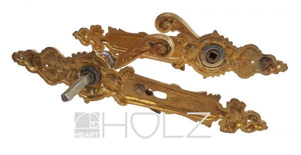 Drückergarnitur antik prächtiger Türbeschlag Messing Neo Barock Türdrücker
