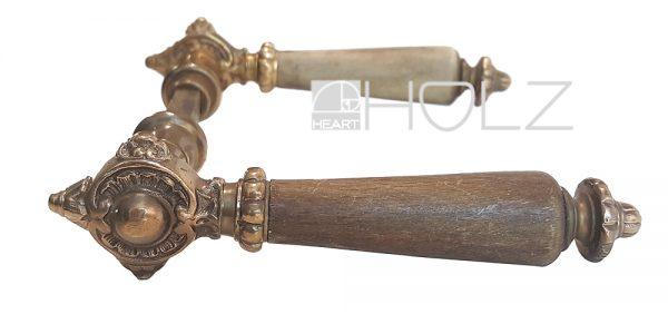 Drückerpaar antik alt Türgriffe Neo Barock Messing Horn Türdrücker Türgriffe