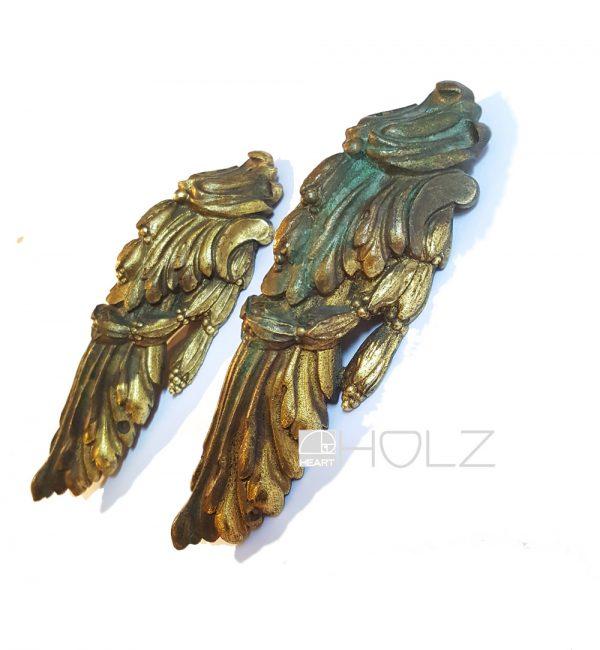 Möbelbeschläge antik alt Bronze feuervergoldet Applikationen Empire
