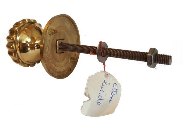 Türknauf antik Messing golden Türgriff Ziehgriff mit Gewinde