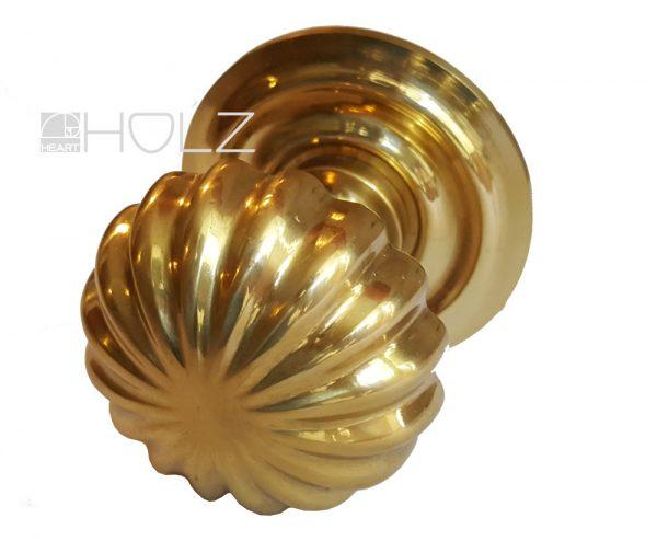 Ziehgriff antik Messing golden Türgriff Türknauf 70mm mit Gewinde