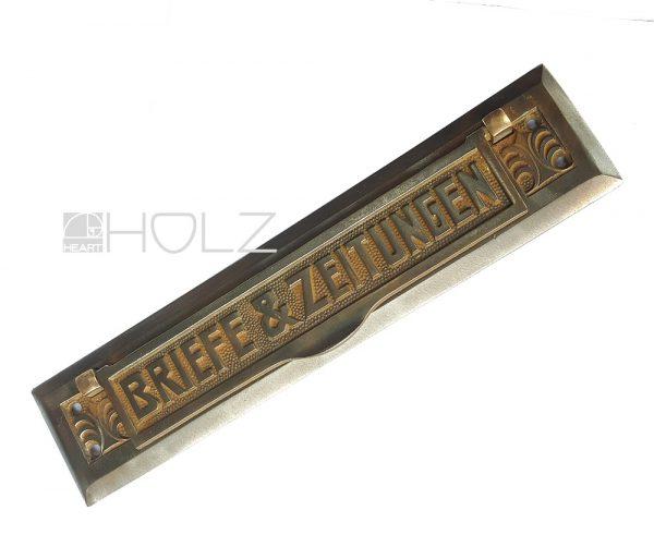 Briefklappe antik Jugendstil Gusseisen detailreich Briefschlitz Zeitungsklappe