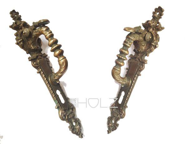 Türgriff antik Fabelwesen Stossgriff Torgriff alt mit Schnapper