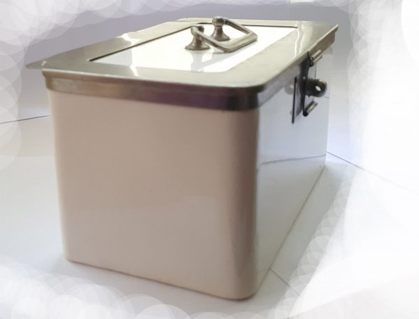 Jugendstil Porzellan Art Deco Behälter Dose alt Bauhaus weiß Küche