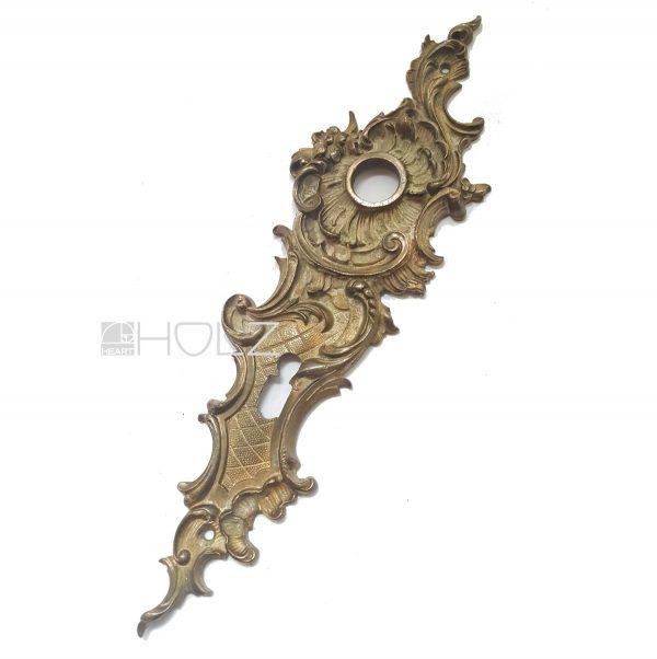 Türschild antik Langschild alt für Türklinke Neo Barock 17.2 mm 74