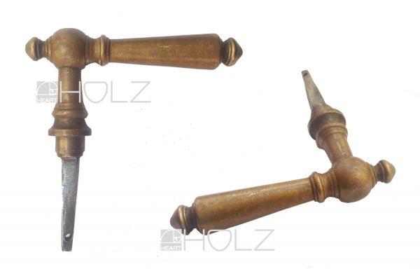 Türdrücker antik Messing Türklinke alt Türgriff Gründerzeit 16.2 mm
