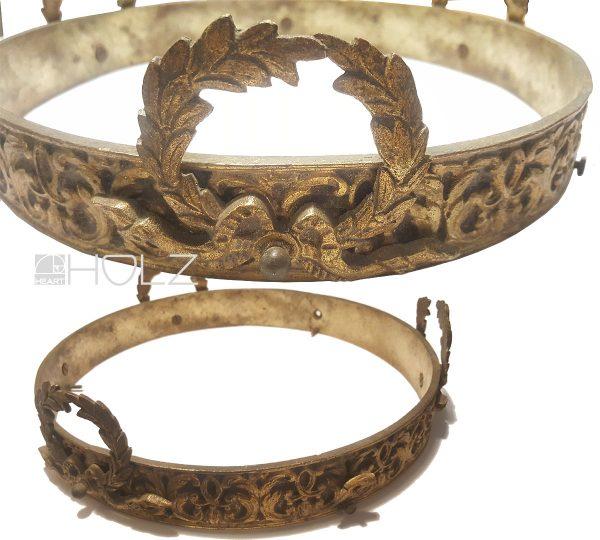 Lampe antik Ring Bronze feuervergoldet alt 25cm