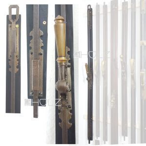 Basküle antik Fenster Verriegelung alt Gründerzeit Horn Messing 124 cm
