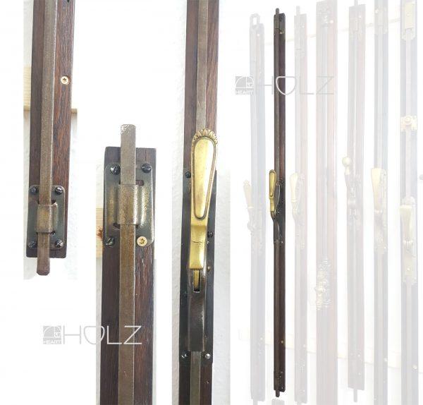 Basküle alt Fensterriegel antik Verriegelung Jugendstil Messing 118 cm