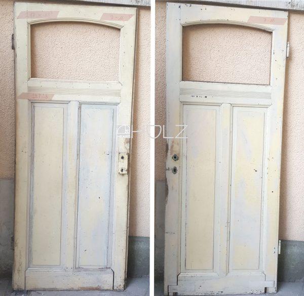 Jugendstil Tür alt Sichtfenster Zimmertür antik weiß 217 x 86