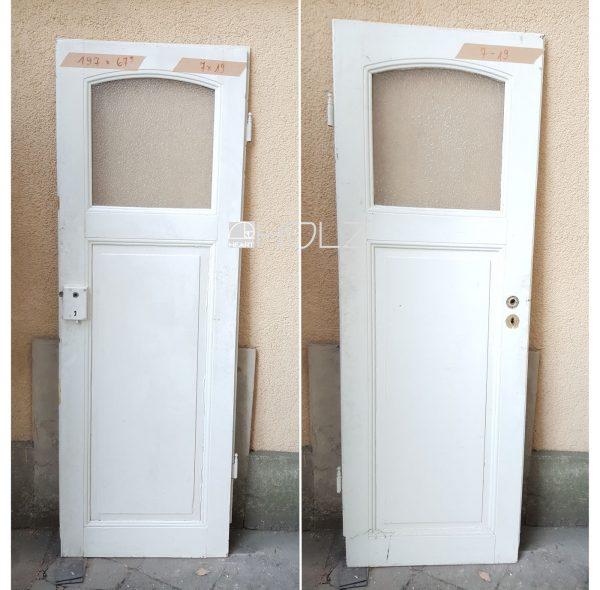 Alte Tür mit Glas Jugendstil Zimmertür antik weiß 197 x 68