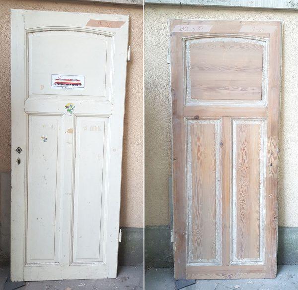 Alte Tür Holztür Jugendstil Zimmertür antik weiß 210 x 85