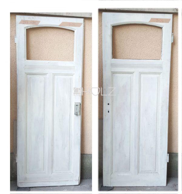 Jugendstil Holztür Tür alt mit Fenster Zimmertür weiß 217 x 81