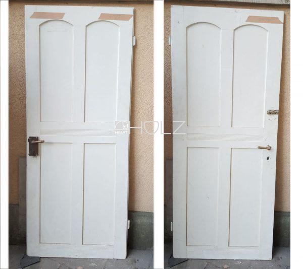 Jugendstil Tür alt Holztür Sperrtür Zimmertür weiß 213 x 86