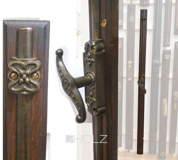 Basküle Fenster Jugendstil Verriegelung antik alt 102 cm