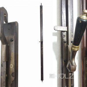 antik Basküle Fenstergriff Jugendstil Fanghaken mit Einreiber alt 131 cm