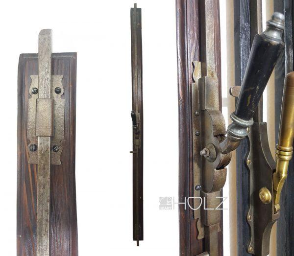 Basküle antik Fenstergriff Schubstange mit Einreiber Gründerzeit alt 130 cm