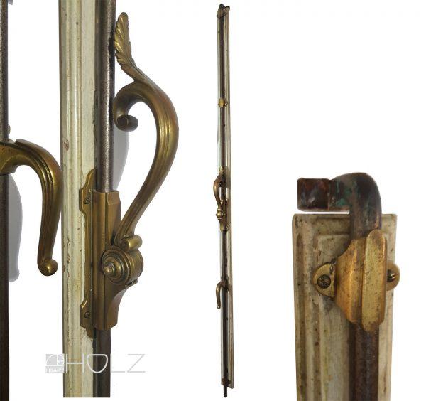 Jugendstil Basküle Antik Fenster Verriegelung alt mit Fanghaken 144 cm