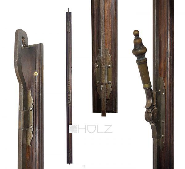Gründerzeit Basküle Fenster antik Verschluss Fanghaken alt 135 cm