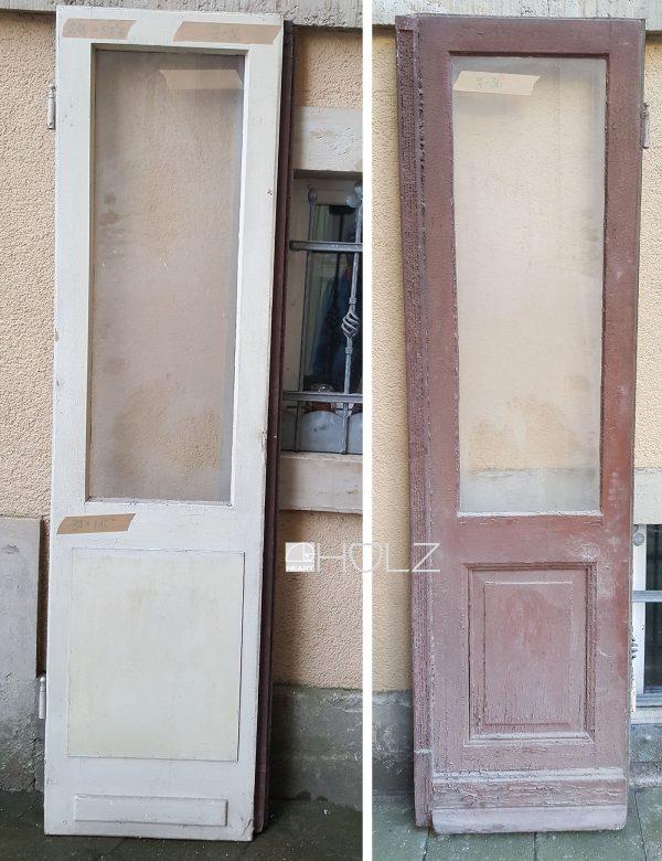 Alte Balkontür alte Tür Flügeltür antik mit Scheibe 218 x 57