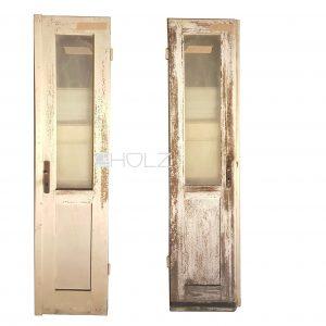 Alte Balkontür alte Tür Flügeltür antik mit Scheibe 213 x 49