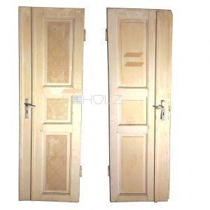 Alte Tür Jugendstil Flügeltür antik weiß 222 x 68