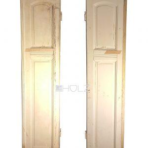 Alte Flügeltür Jugendstil Tür antik weiß 235 x 53 Stehflügel