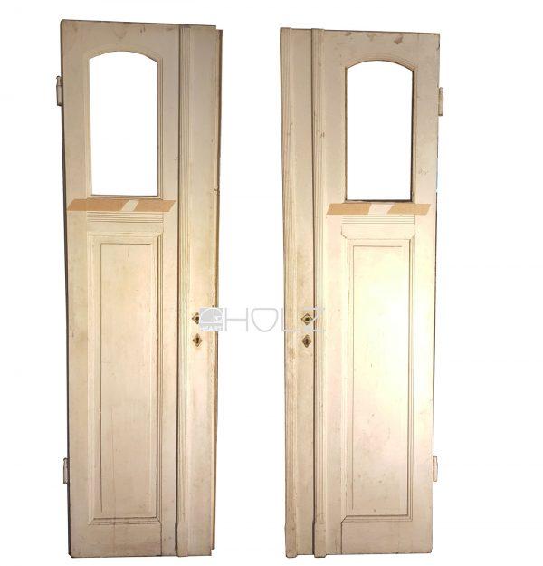 Alte Flügeltür Jugendstil Tür antik weiß 235 x 63 Drehflügel